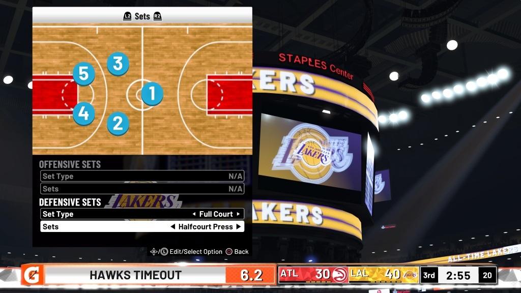 NBA 2K19; gameplay: taktika