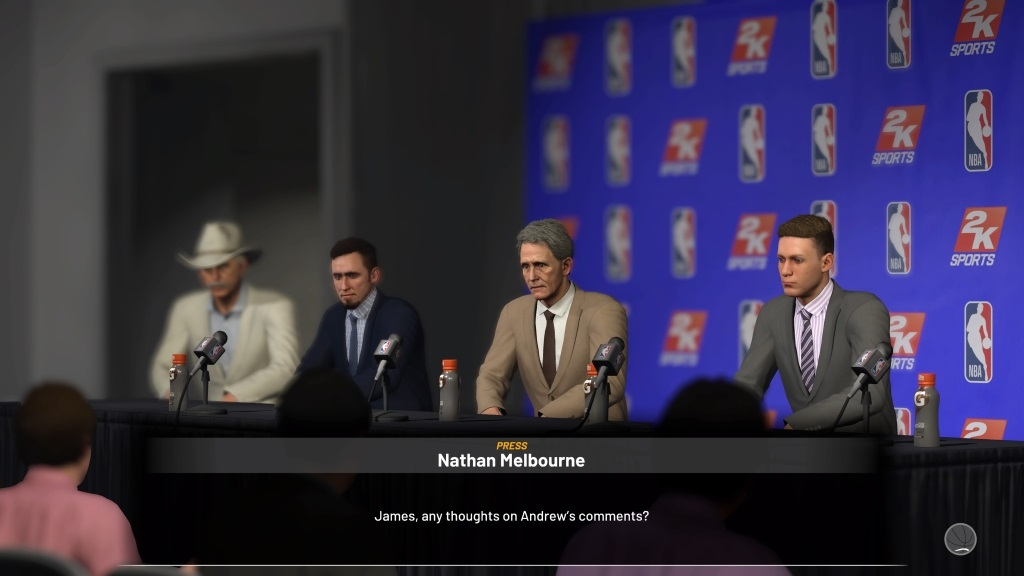 NBA 2K19; gameplay: tiskovka