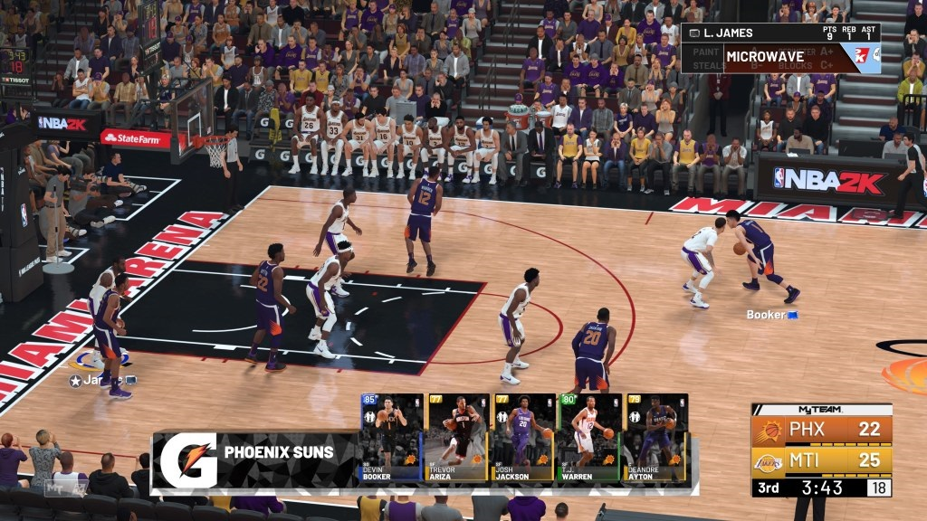 NBA 2K19; gameplay: zápas