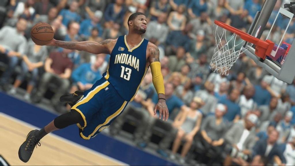 NBA 2K19; screenshot: zavěšení