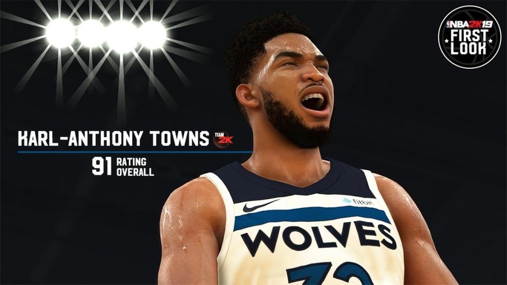 NBA 2K19; screenshot: Towns