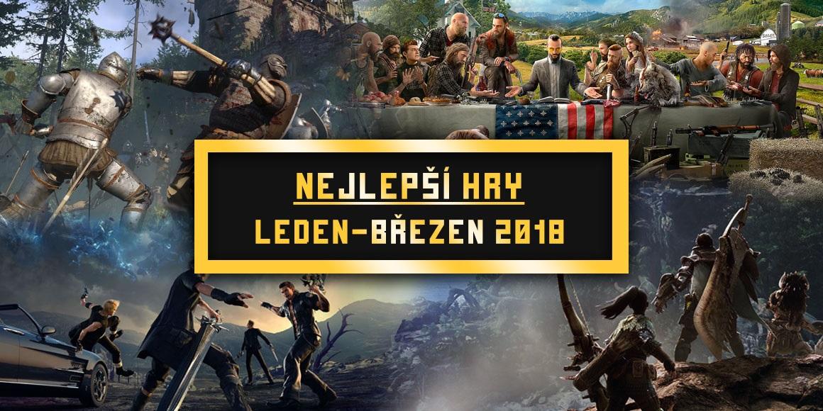 Nejlepší hry Q1 2018; Kingdom Come: Deliverance, Final Fantasy XV, Monster Hunter: World, Far Cry 5