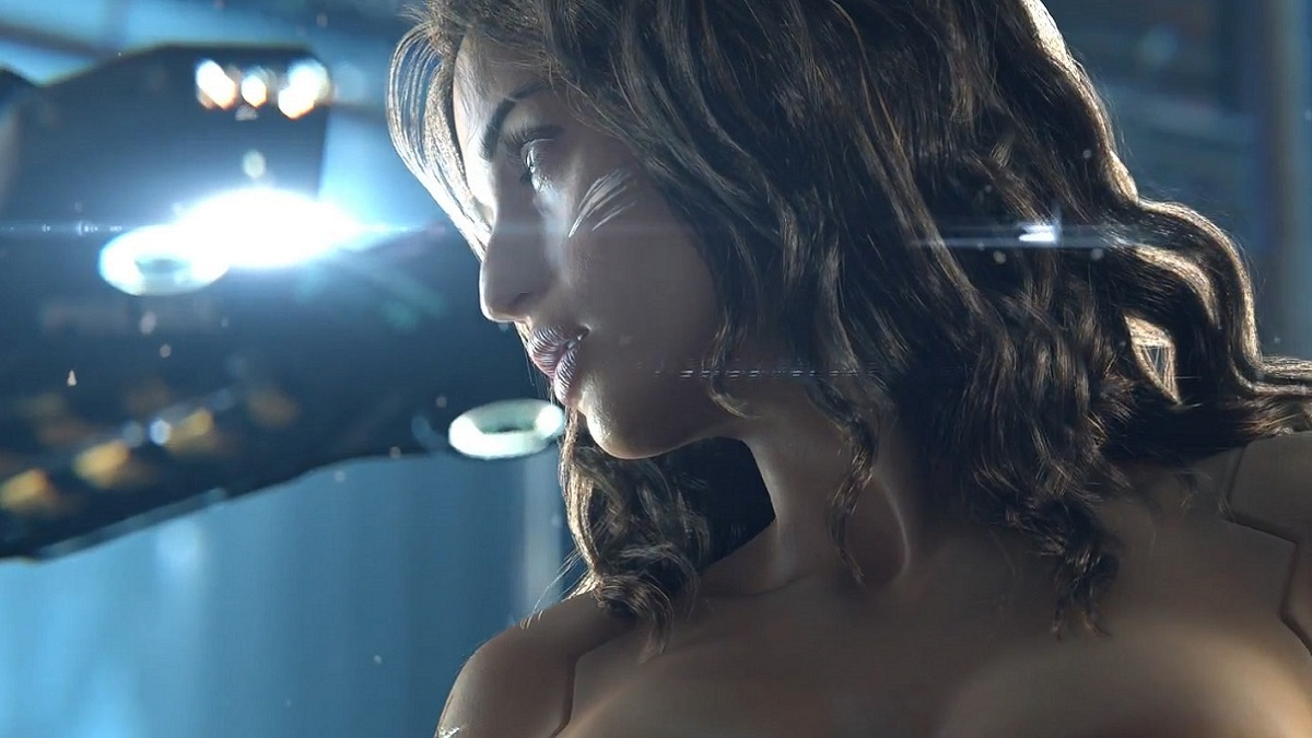 Cyberpunk 2077; screenshot: female psycho