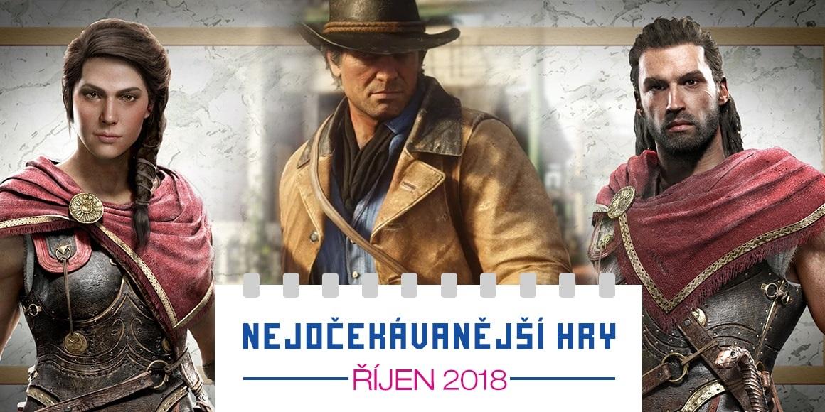 Nejočekávanější hry: září 2018; RDR2, Assassin's Creed Odyssey