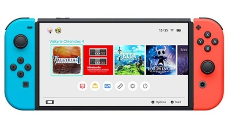Nintendo Switch; screenshot: displej koncept
