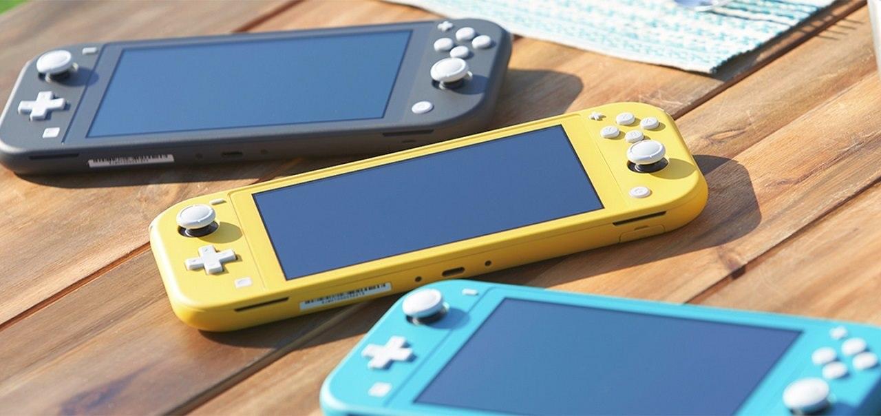 Switch Lite; screenshot: barvy
