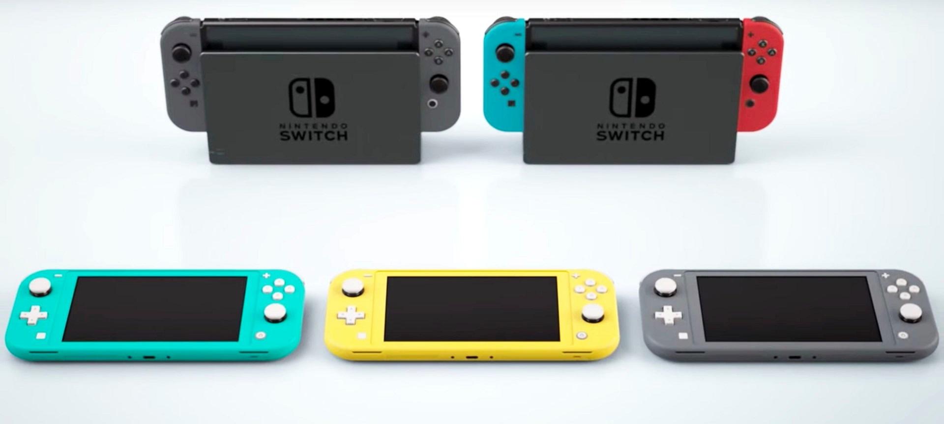 Switch Lite; screenshot: porovnání