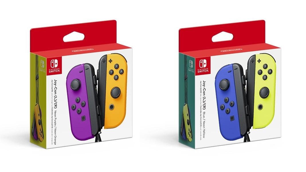 Nintendo Switch; screenshot: nové barevné ovladače