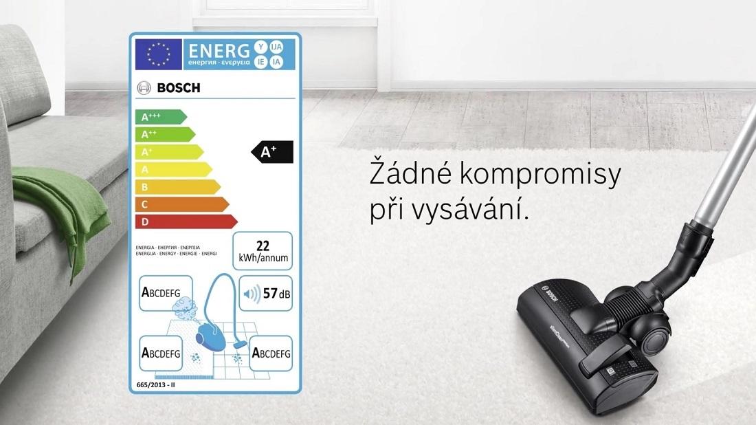 BOSCH - nový energetický štítok