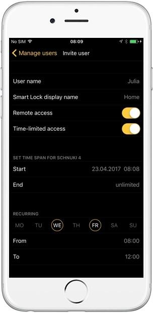 Nuki Smart Lock aplikace
