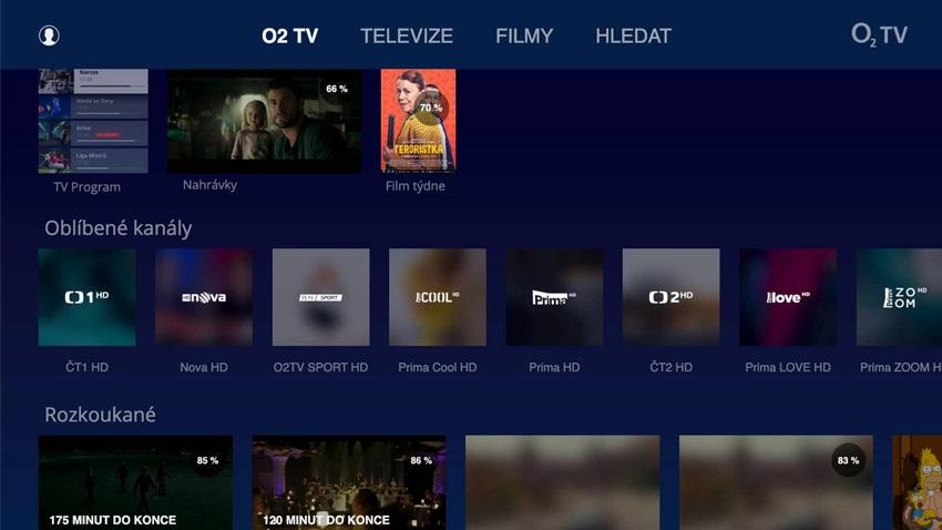 O2 TV, aplikace