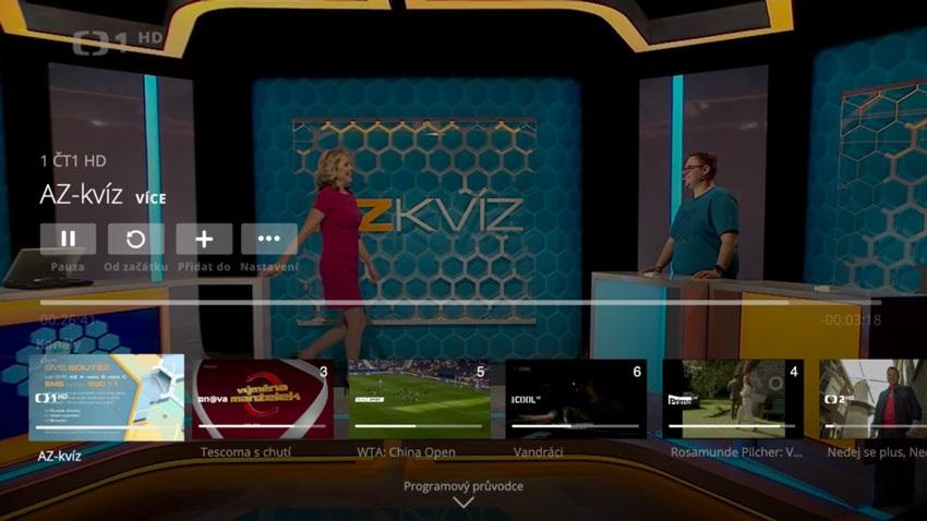 O2 TV, rozhraní aplikace