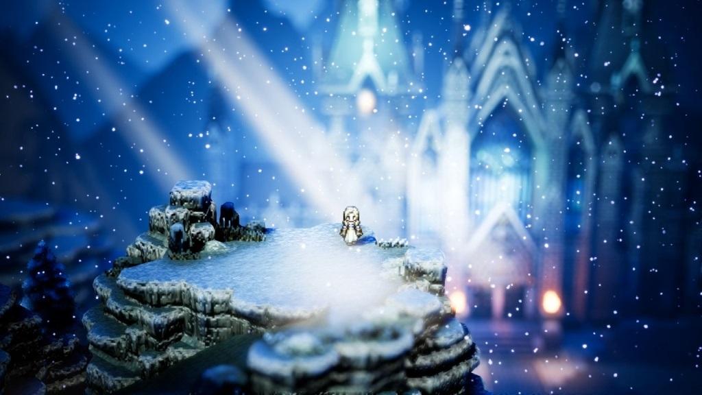 Nejlepší hry; Octopath Traveler; screenshot: chrám