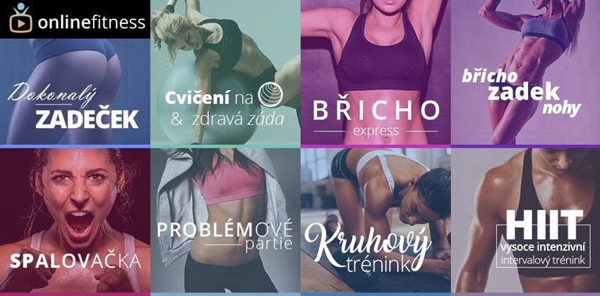 Online Fitness lekce