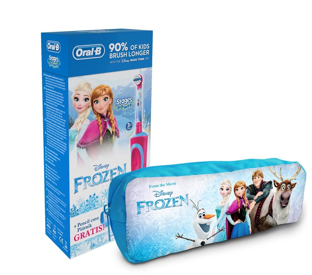 Elektrický zubní kartáček pro děti s motivy Froze
