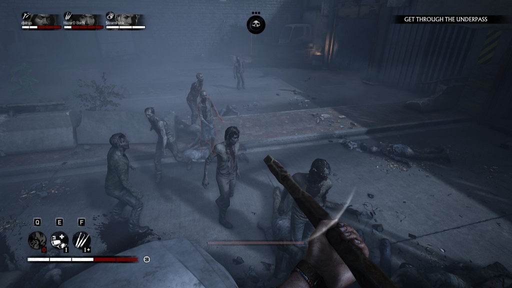 Overkill's The Walking Dead; gameplay: auto