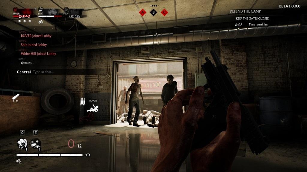 OVERKILL's The Walking Dead; gameplay: pistole
