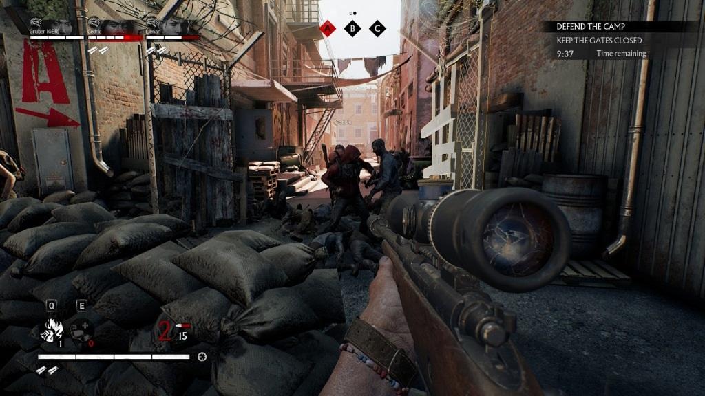 Overkill's The Walking Dead; gameplay: start