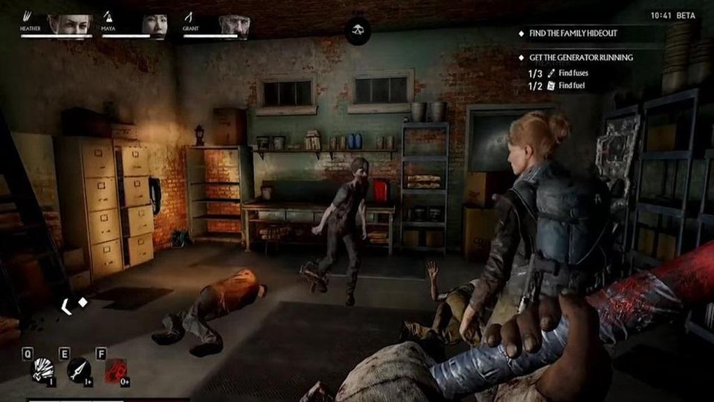 OVERKILL's The Walking Dead; screenshot: garáž
