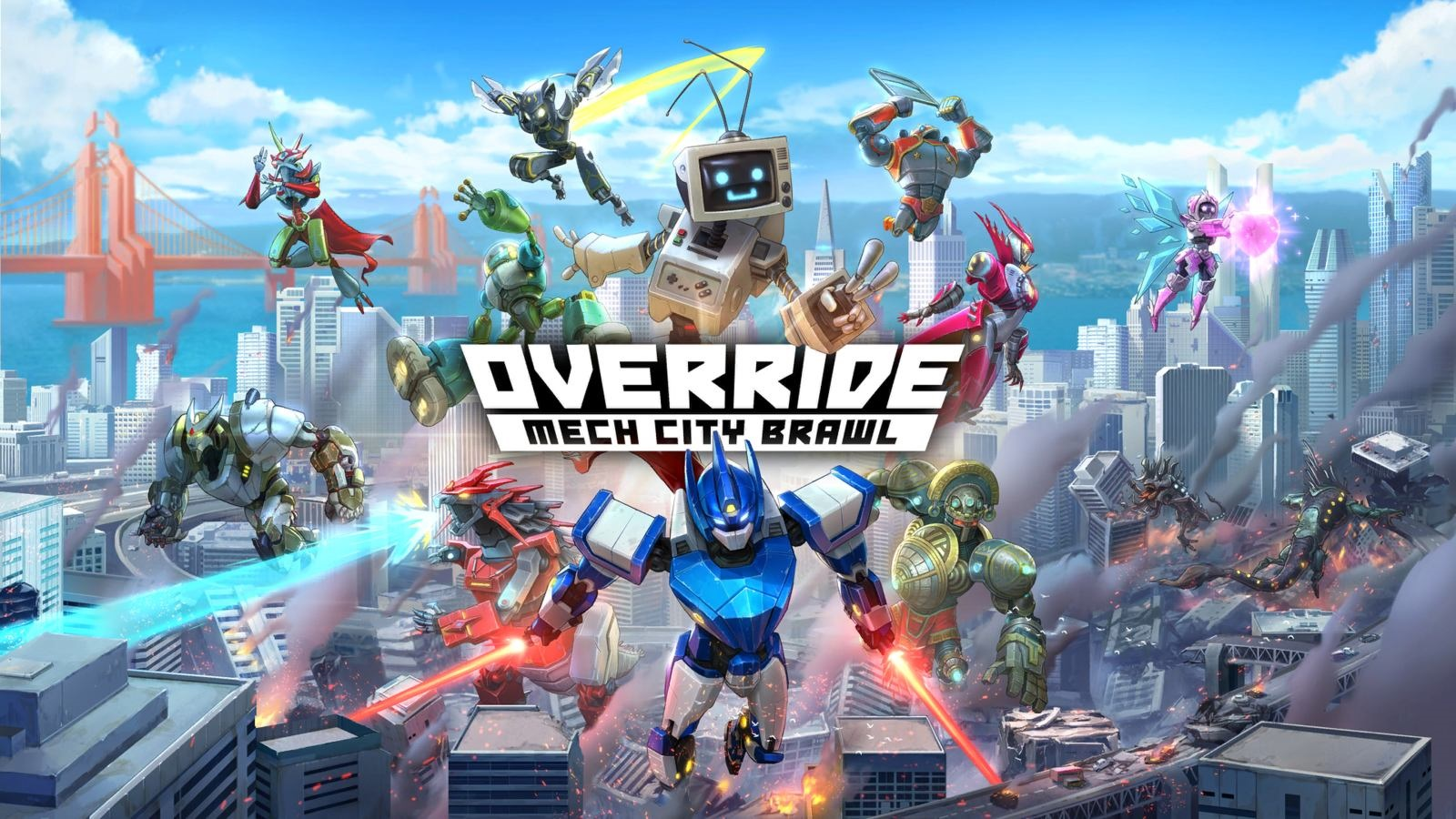 Override: Mech City Brawl; screenshot: cover