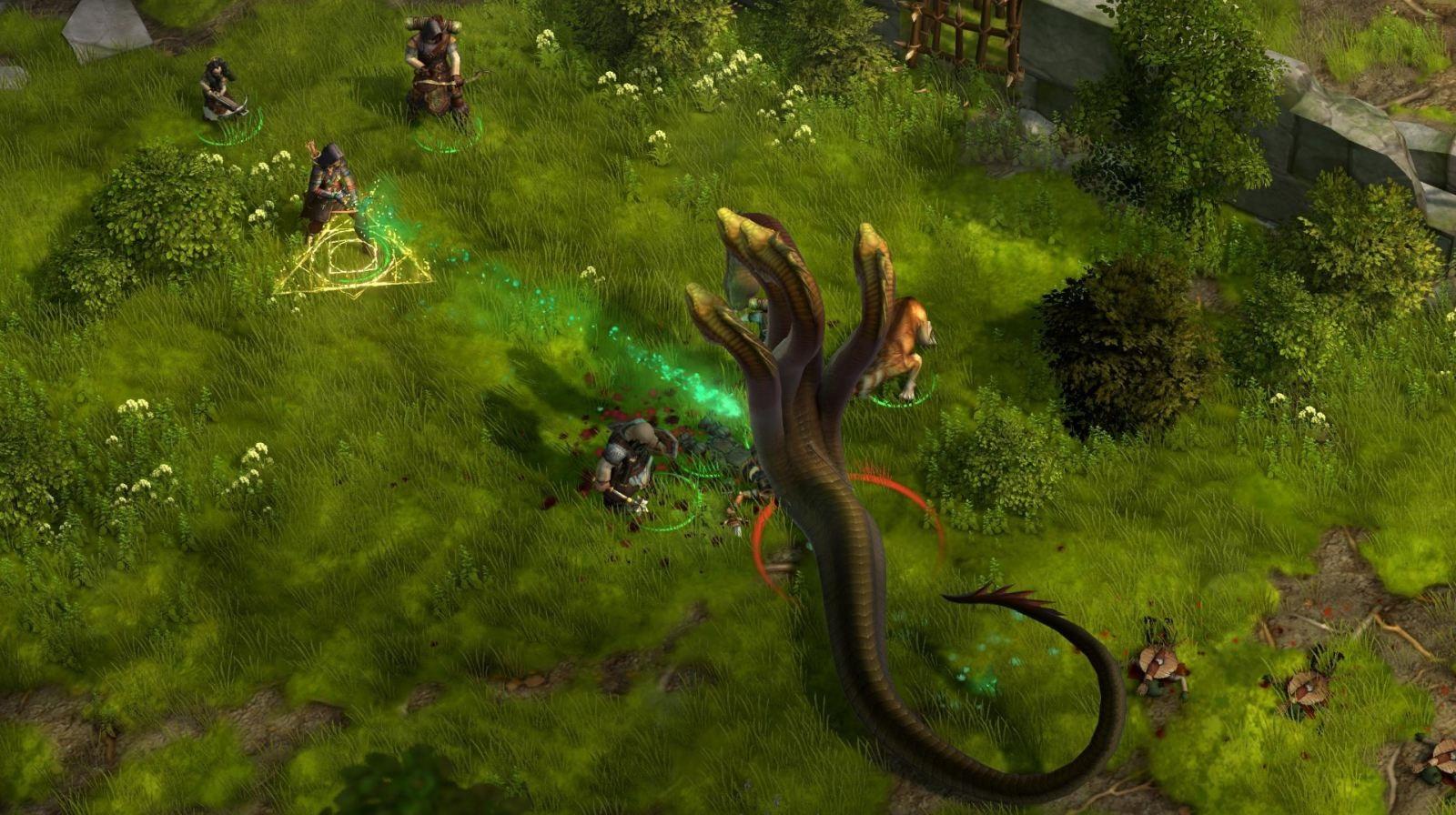 Pathfinder: Kingmaker; screenshot: bitva