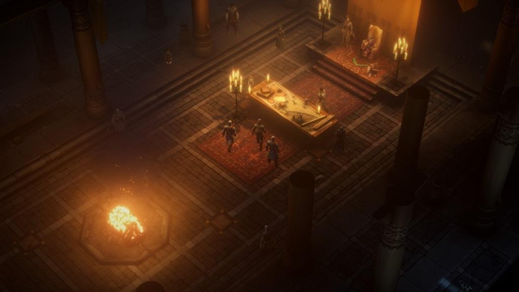 Pathfinder: Kingmaker; gameplay: hlavní sál