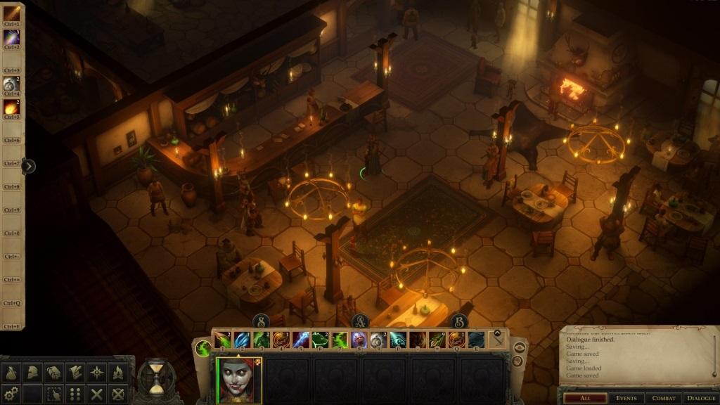 Pathfinder: Kingmaker; gameplay: hospoda