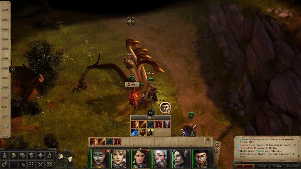 Pathfinder: Kingmaker; gameplay: hydra