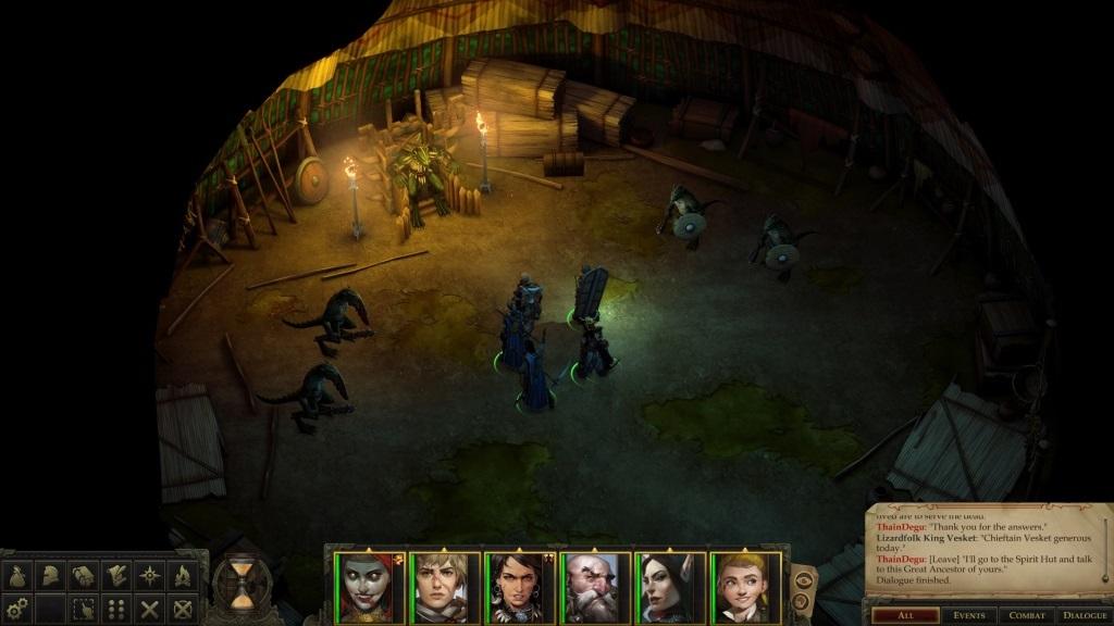 Pathfinder: Kingmaker; gameplay: ještěr