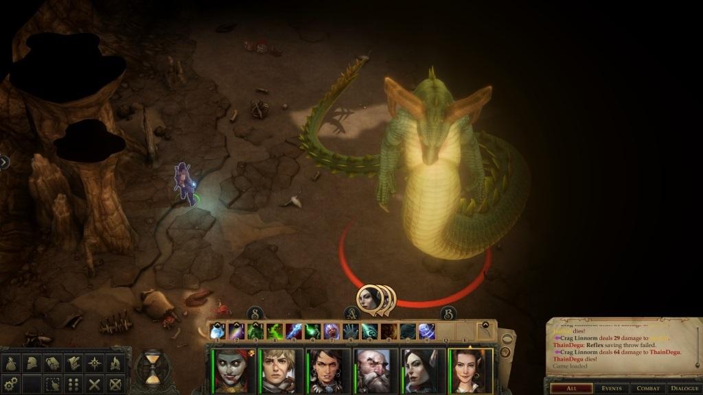 Pathfinder: Kingmaker; gameplay: monstrum