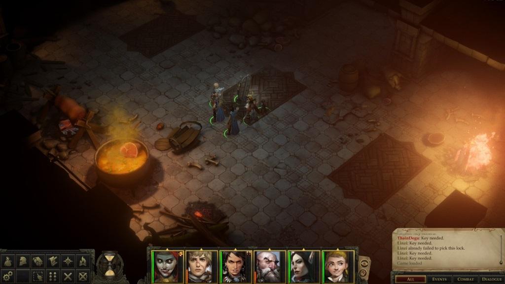 Pathfinder: Kingmaker; gameplay: sin