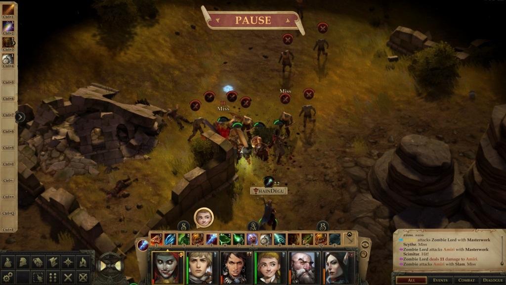 Pathfinder: Kingmaker; gameplay: zombie