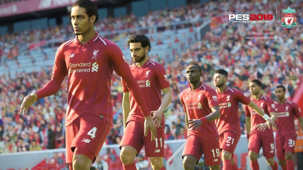 Nejočekávanější hry v červenci a srpnu 2018; PES 2019, screenshot: nástup na zápas