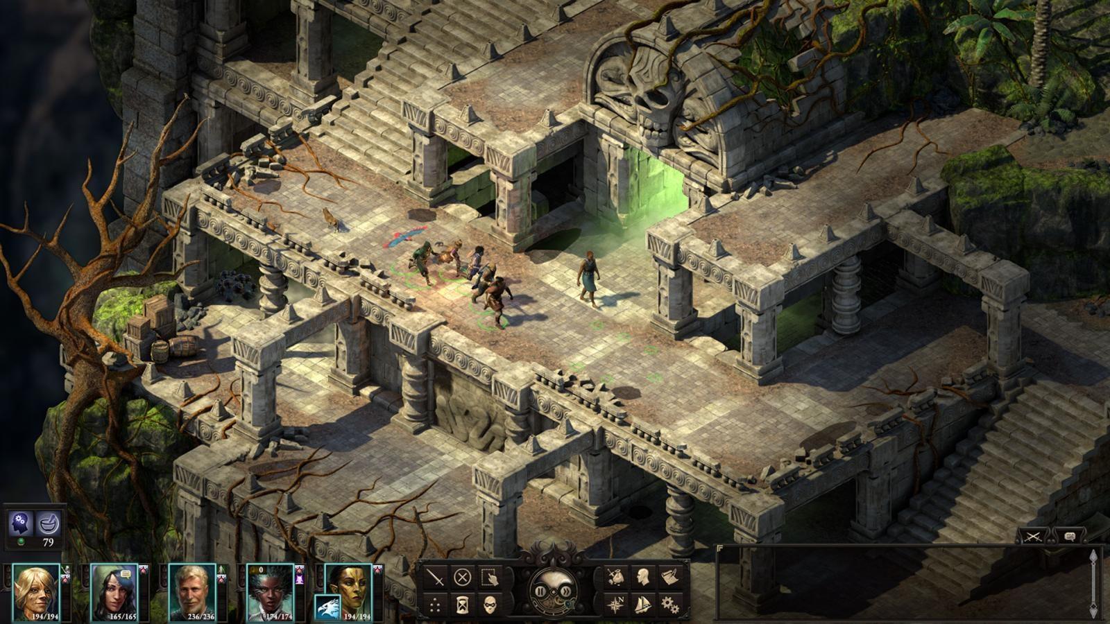 Pillars of Eternity 2: Deadfire; screenshot: chrám