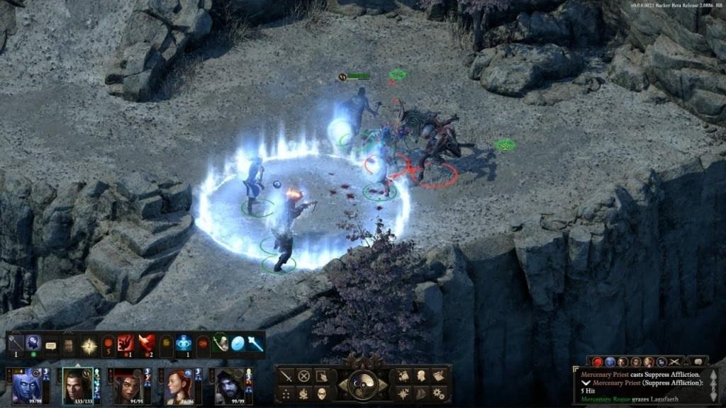 Pillars of Eternity 2; Gameplay: souboj, kouzlo