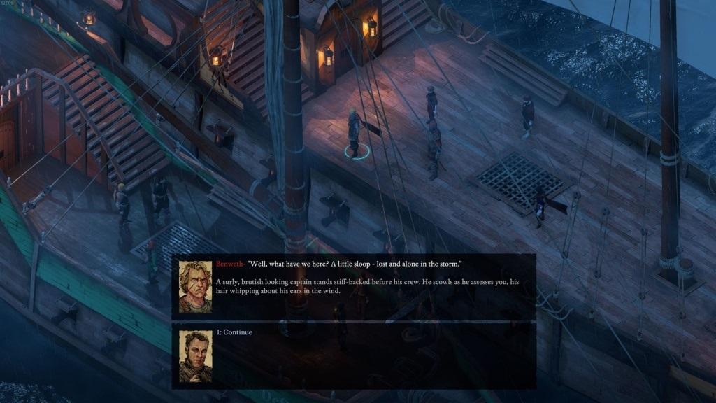 Nejlepší hry; Pillars of Eternity 2: Deadfire; screenshot: lodě