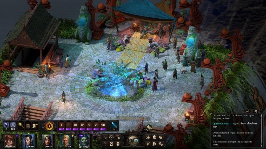 Nejlepší hry; Pillars of Eternity 2: Deadfire; screenshot: trůnní sál
