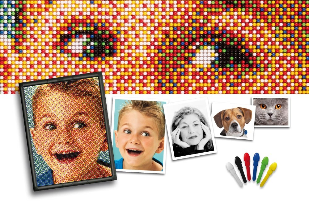 Kreativní sada Pixel Photo Art na tvoření portrétů aneb kouzla s pixely