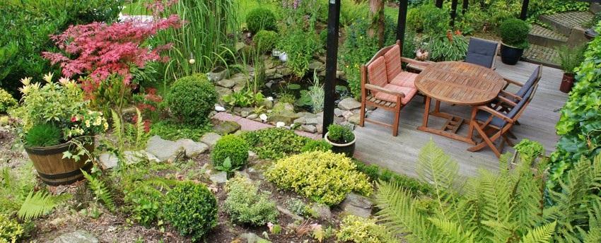 Příjemné posezení na zahradě