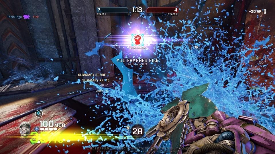 Quake Champions; Melee kill
