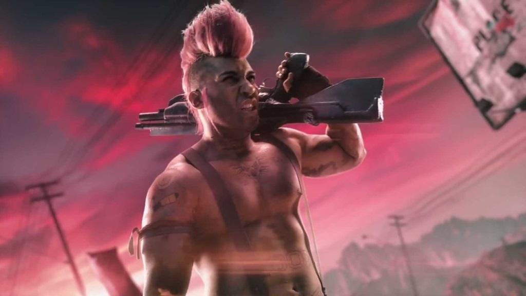 Rage 2; wallpaper: šílený pankáč