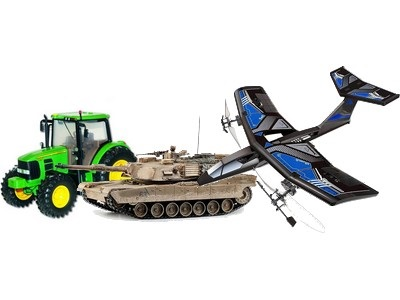 RC stroje, tanky, letadla