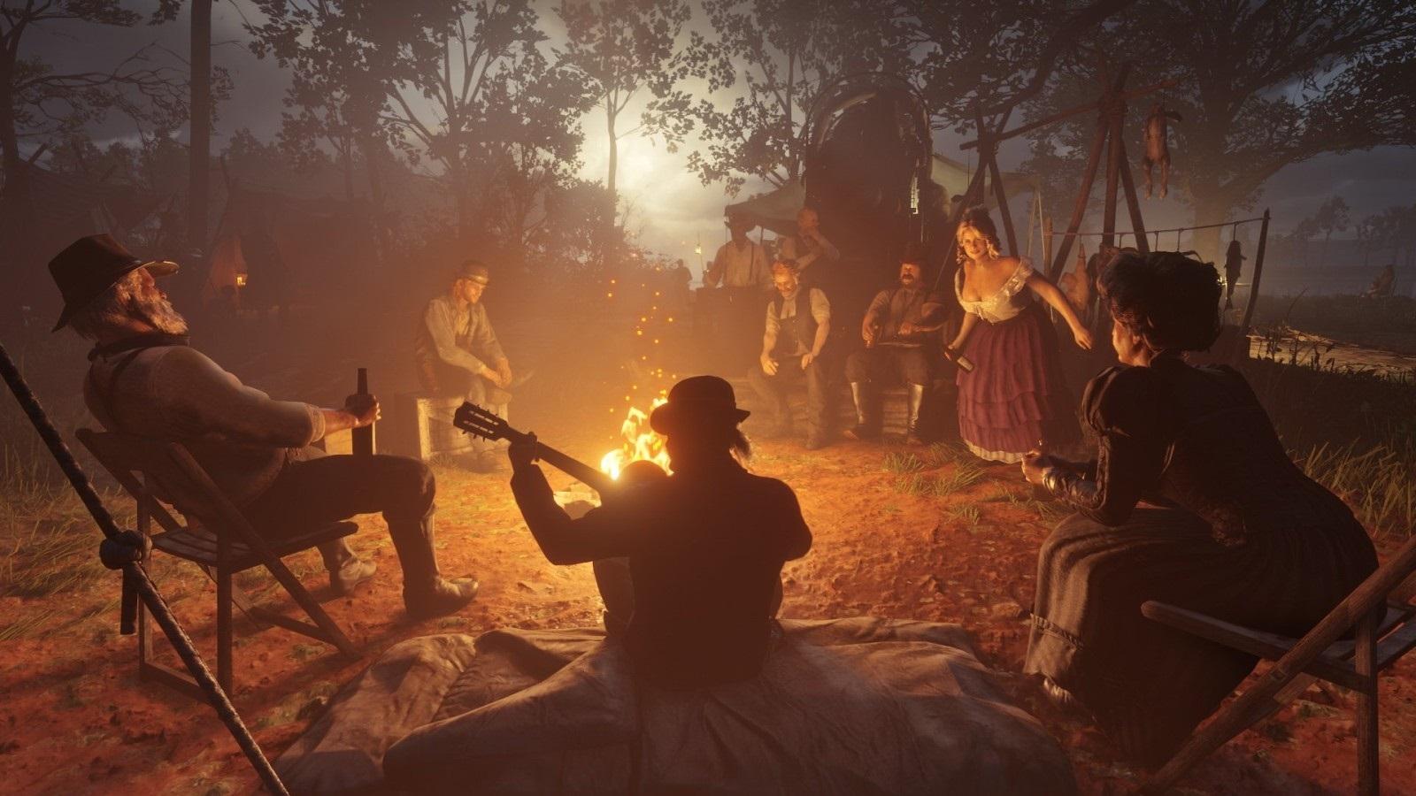 Red Dead Redemption 2; screenshot: rodina