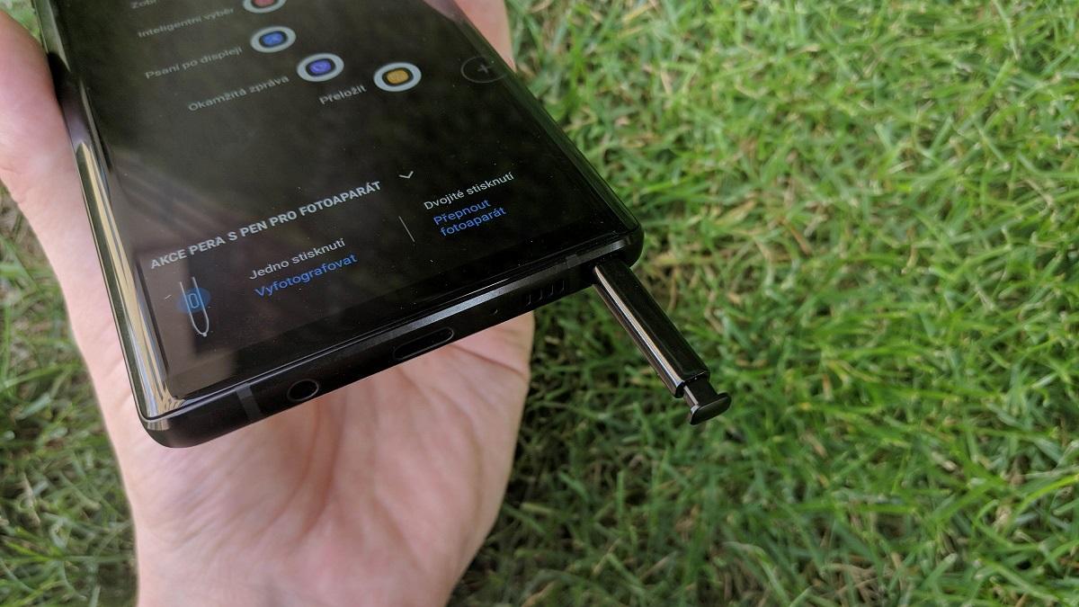 Samsung Galaxy Note9; recenze; pero S Pen