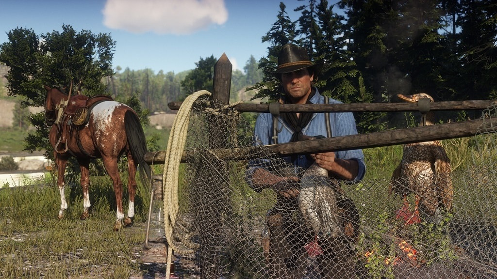 Red Dead Redemption 2; screenshots, hunting