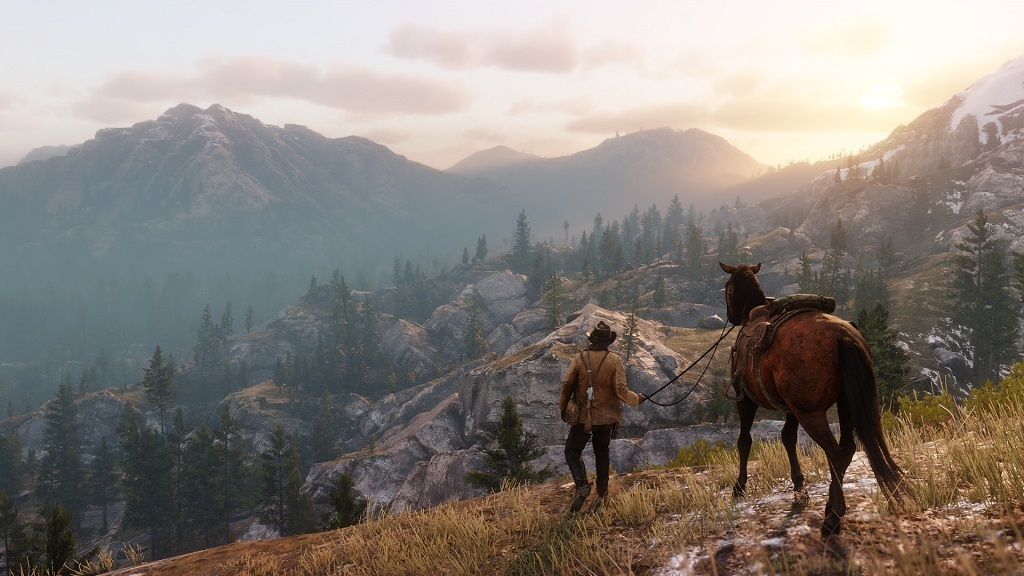 Red Dead Redemption 2; Mountain, view