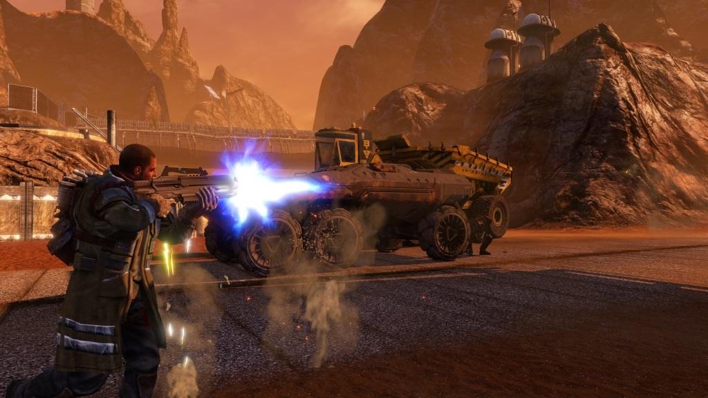 Nejočekávanější hry v červenci a srpnu 2018; Red Faction: Guerrilla Re-Mars-tered, screenshot: střelba
