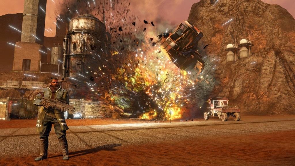 Nejočekávanější hry v červenci a srpnu 2018; Red Faction: Guerrilla Re-Mars-tered, screenshot: zničitelné prostředí