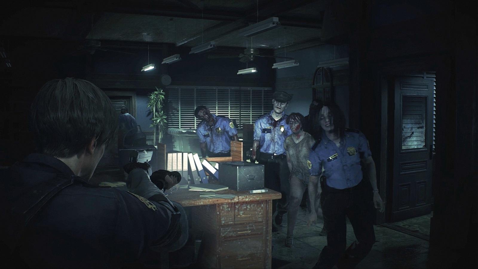 Nejočekávanější hry roku 2019; Resident Evil 2, screenshot: zástupy