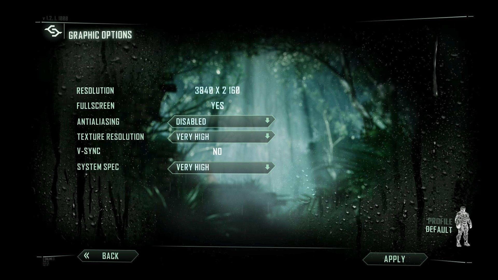 Ryzen 5 a Core i5 - nastavení ve hře Crysis 3